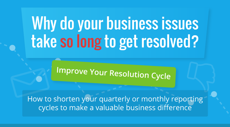 Issues taking too long to get resolved? You might need to improve your resolution cycle. [Infographic]